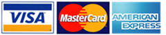 AcceGen Supports Visa, MasterCard or American Express Credit Card Payments